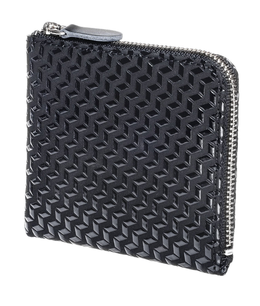 Zipped Coin Purse (Large)  Chevron  Black x Black
