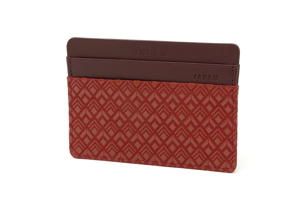 Card Case  Diamond Frame  Red x Red