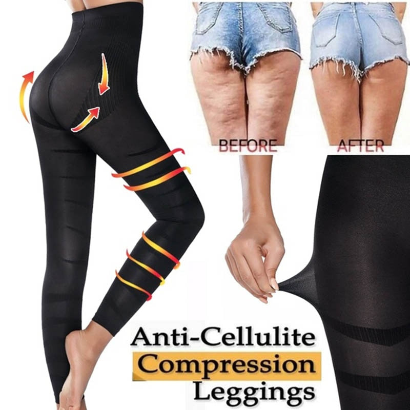 High Waist Leggings Women Sculpting Sleep Leg Legging Tummy Control Skinny Panties Slimming  Leggings Thigh Slimmer Pants