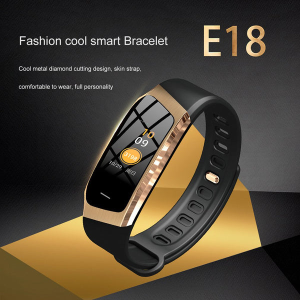 Smart Bracelet E18 Color Touch Screen IP67 Waterproof Blood Pressure Oxygen Heart Rate Monitor Smart Watches Dropshipping