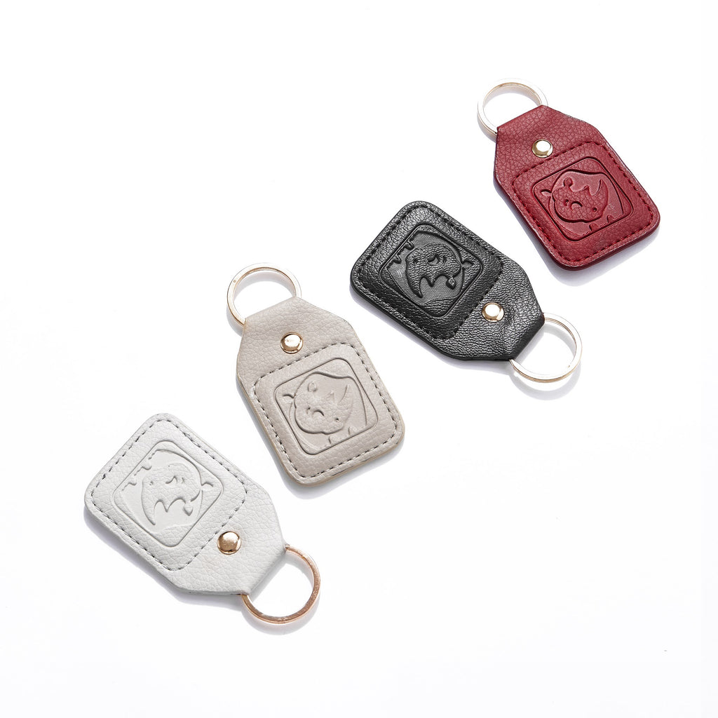 White Rhino Key Chain