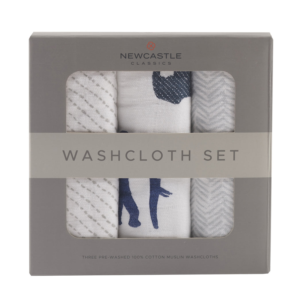 In The Wild Elephant Washcloth Set by Newcastle Classics