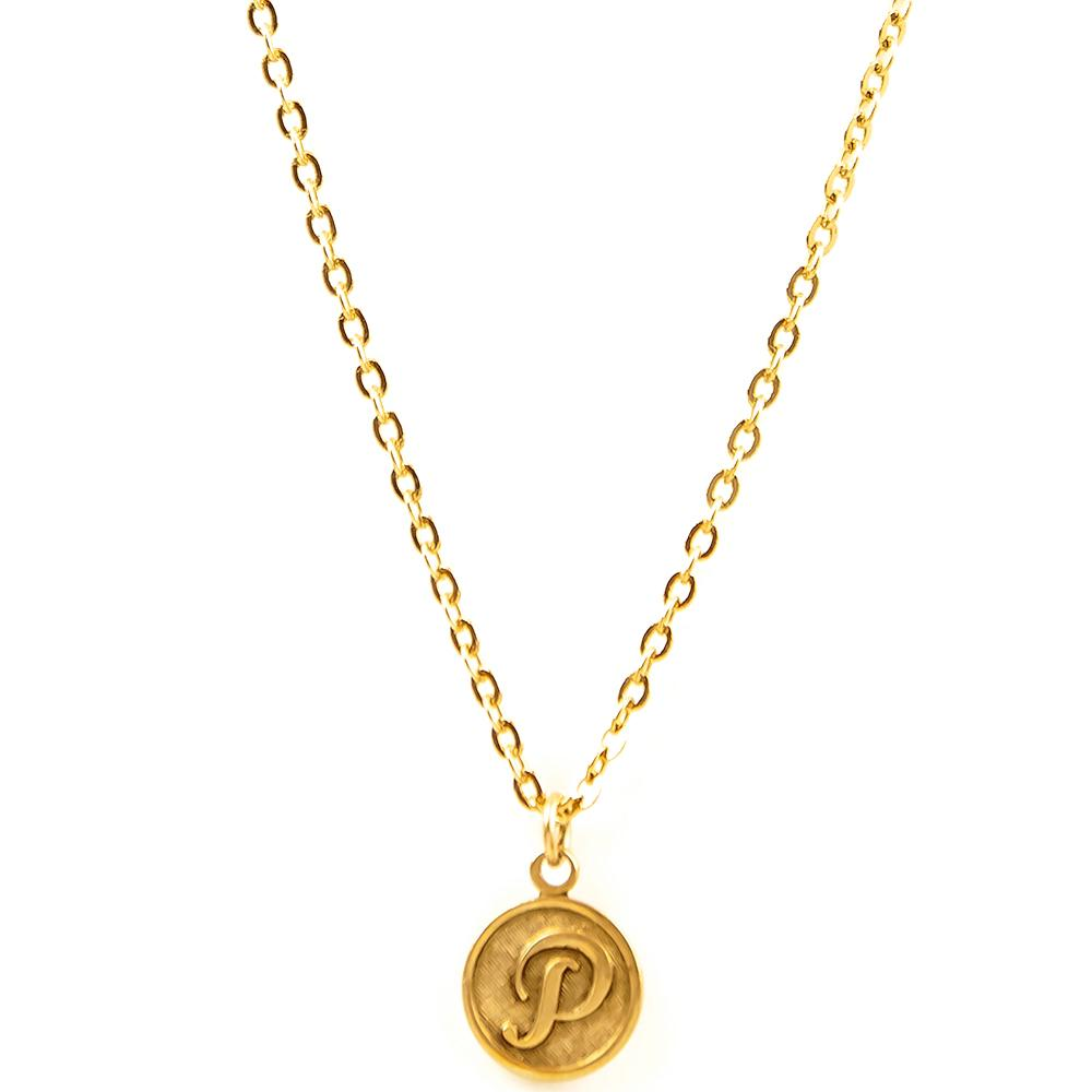 "AVERY ""P"" NECKLACE"