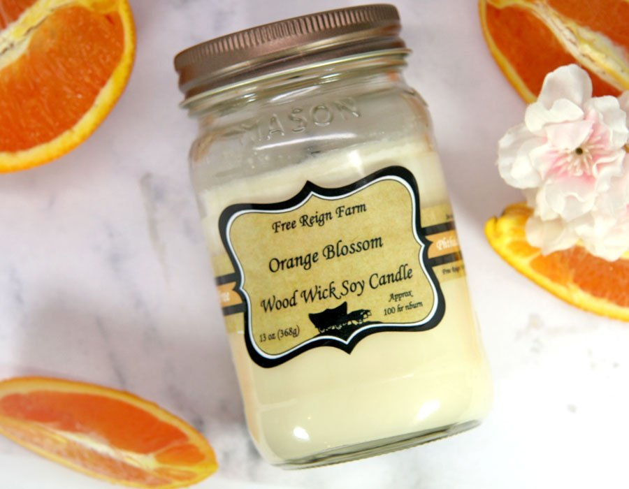 Orange Blossom - Wood Wick Candles