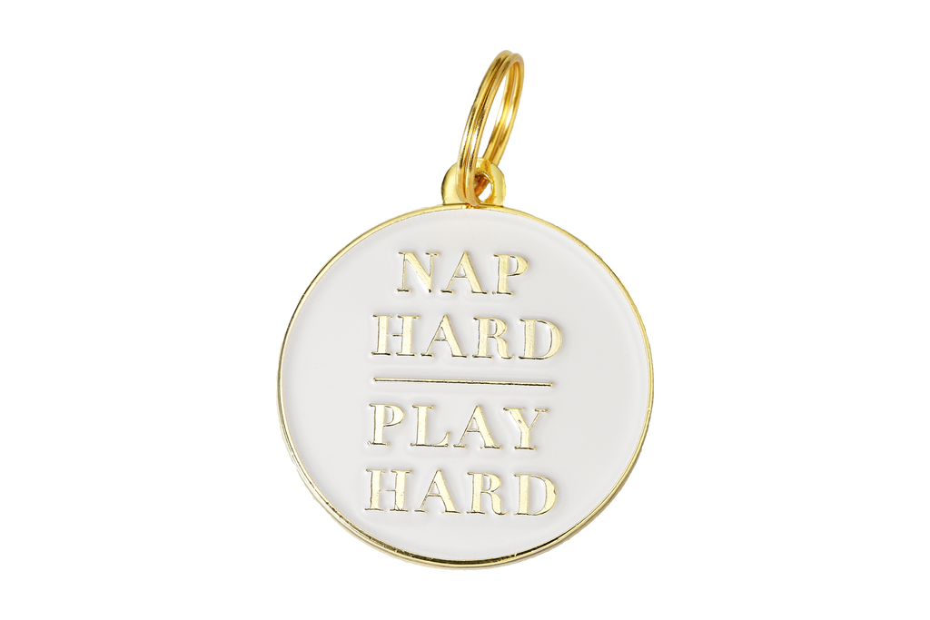 Pet ID Tag - Nap Hard, Play Hard