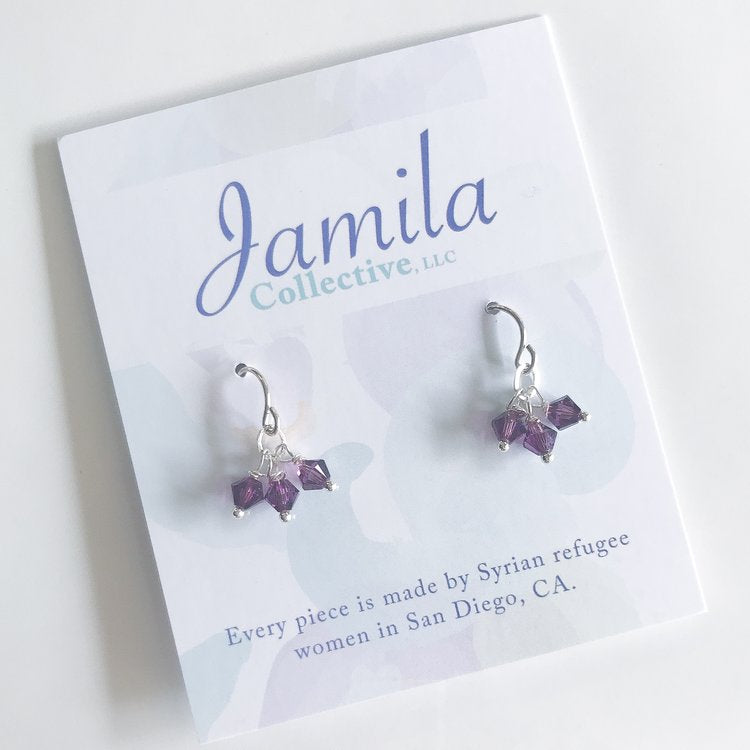 Lore Cluster Earrings - Amethyst