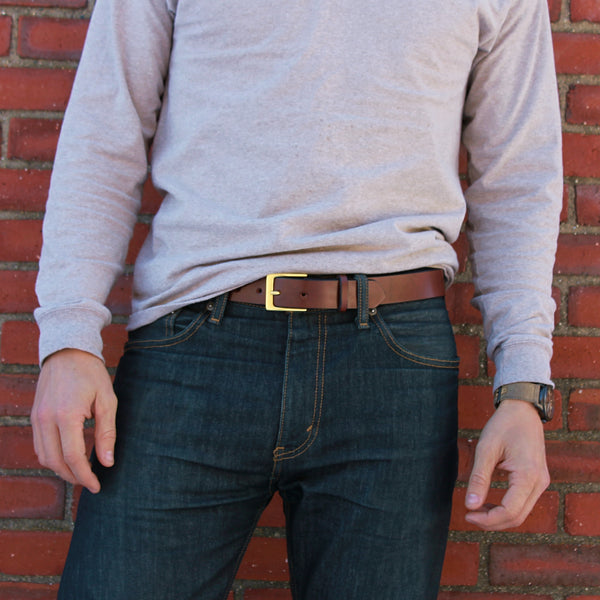 Everyday Belt - Brown with Gold Hardware