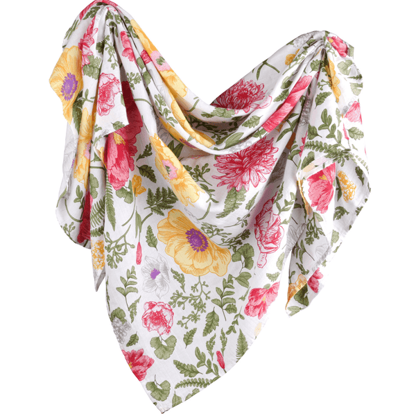 Bamboo Floral Muslin Swaddle Blanket