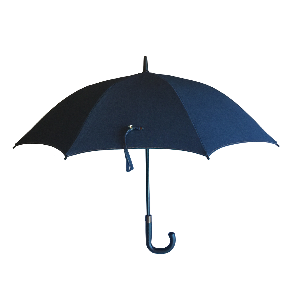 Sun Protection Umbrella Blue Jean (large) featuring Sunbrella™ Fabric w/ sleeve and shoulder strap