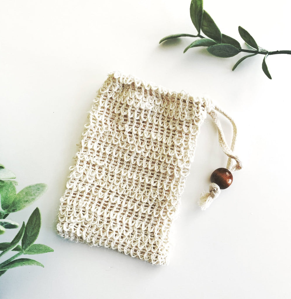 Natural Sisal Soap Saver and Exfoliating Pouch