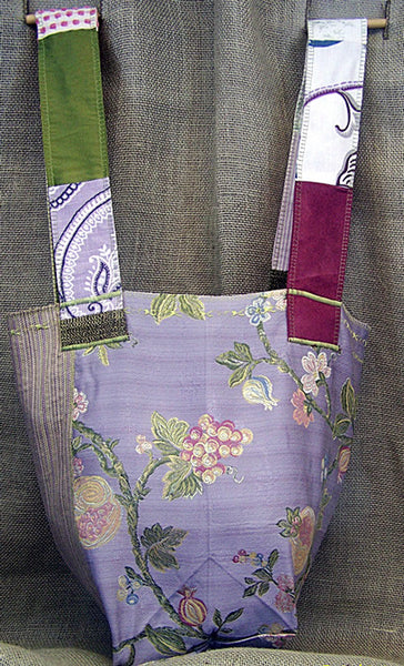 a lighter weight SAQ in lilac, green  & raspberry shades