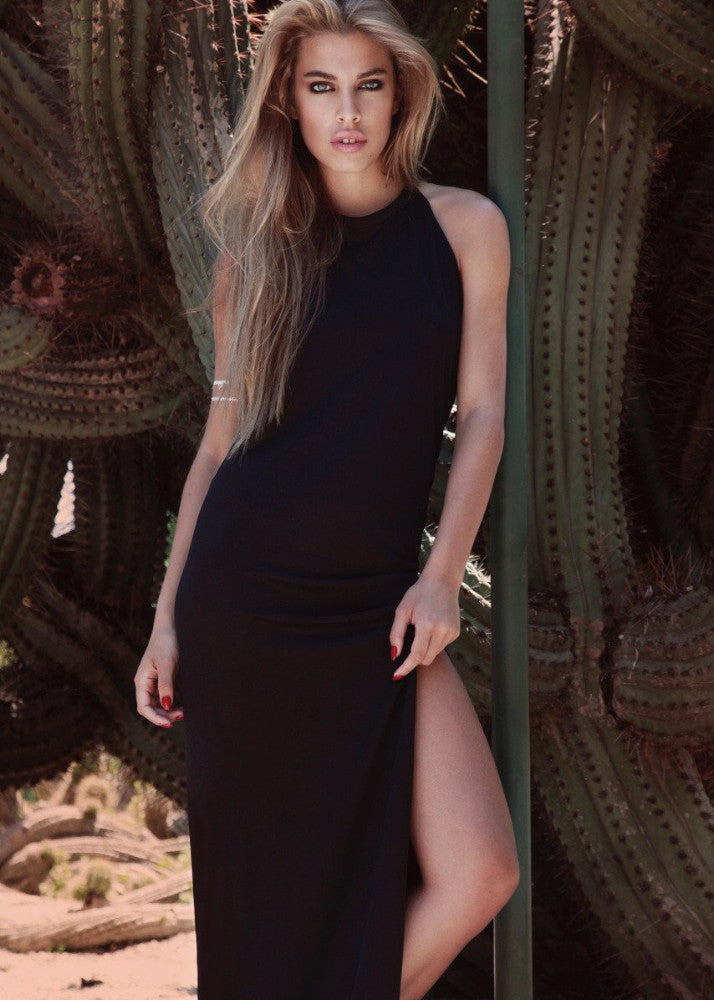 long dress black jessica goicoechea