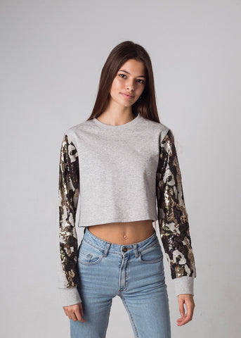 HALTER L/S CROP TOP
