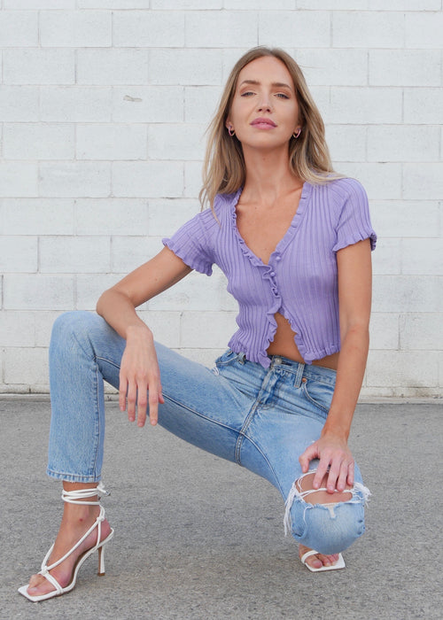 VIOLET HEAVEN KNIT TOP