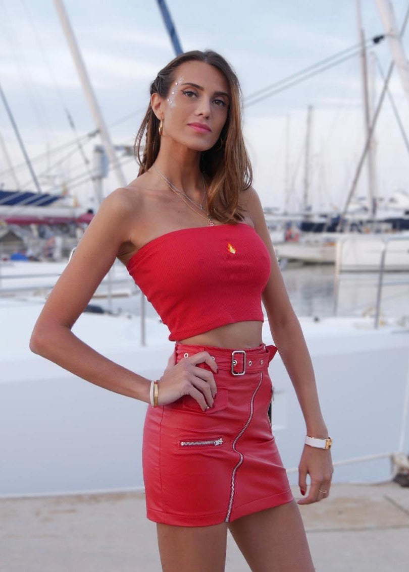 RED BELT SKIRT