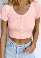 LIGHT PINK BUTTON FRONT TOP
