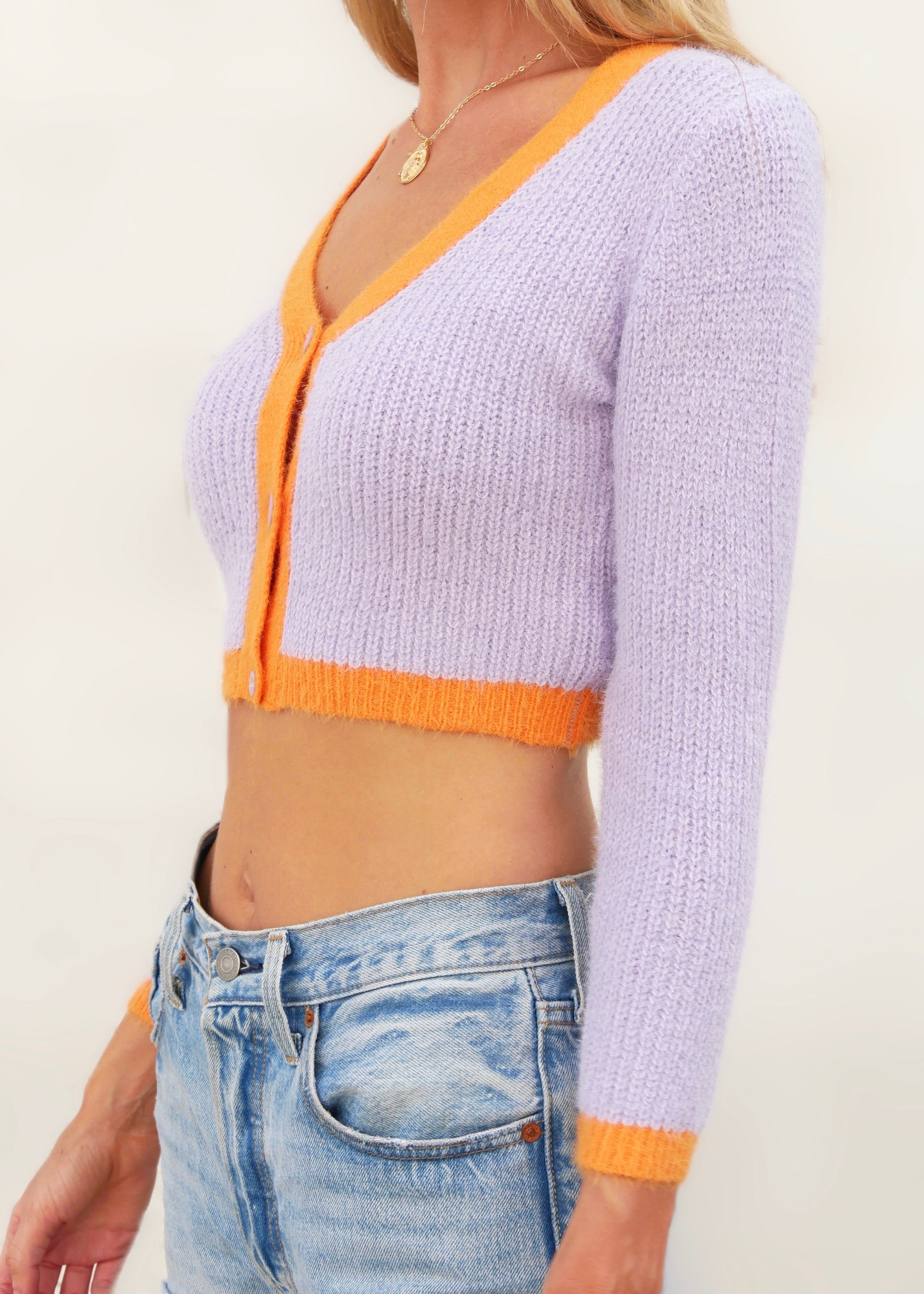 RAINBOW KNIT IN VIOLET