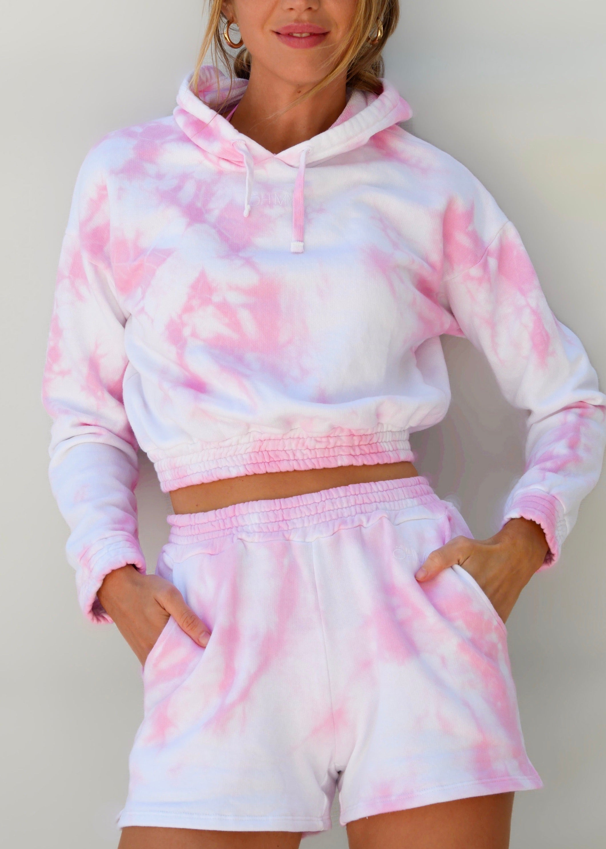 TIE DYE PINK SHORT (BOTTOM)
