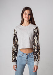CAMO SEQUINS SWEATSHIRT