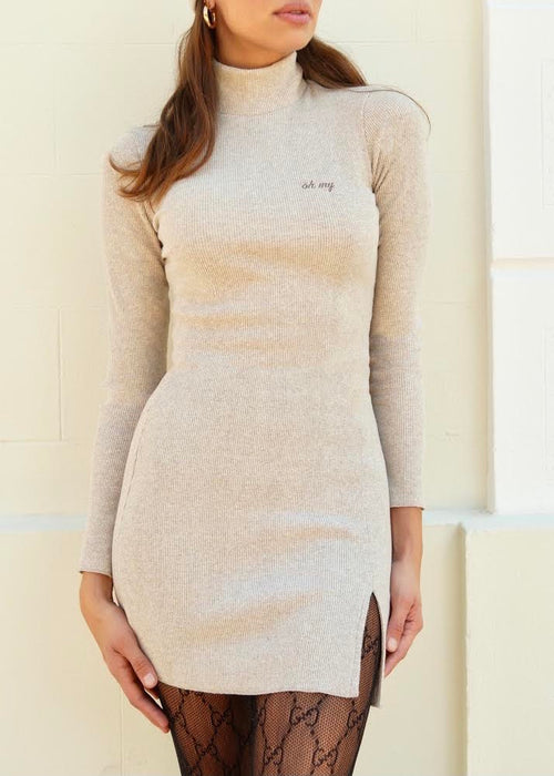 ORGANIC NATURAL MINI DRESS