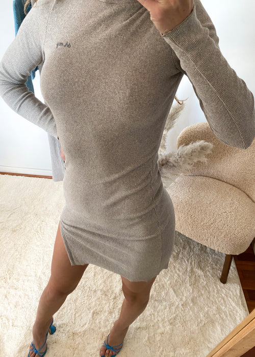ORGANIC LIGHT GREY MINI DRESS