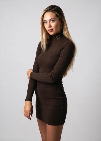 CHOKER VELVET DRESS IN BLACK