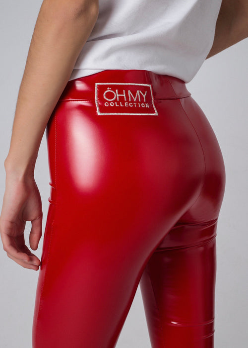 GUMMY RED LEGGINGS