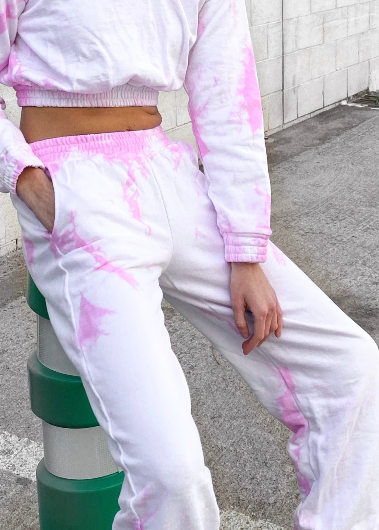 TYE DYE PINK JOGGER (BOTTOM)