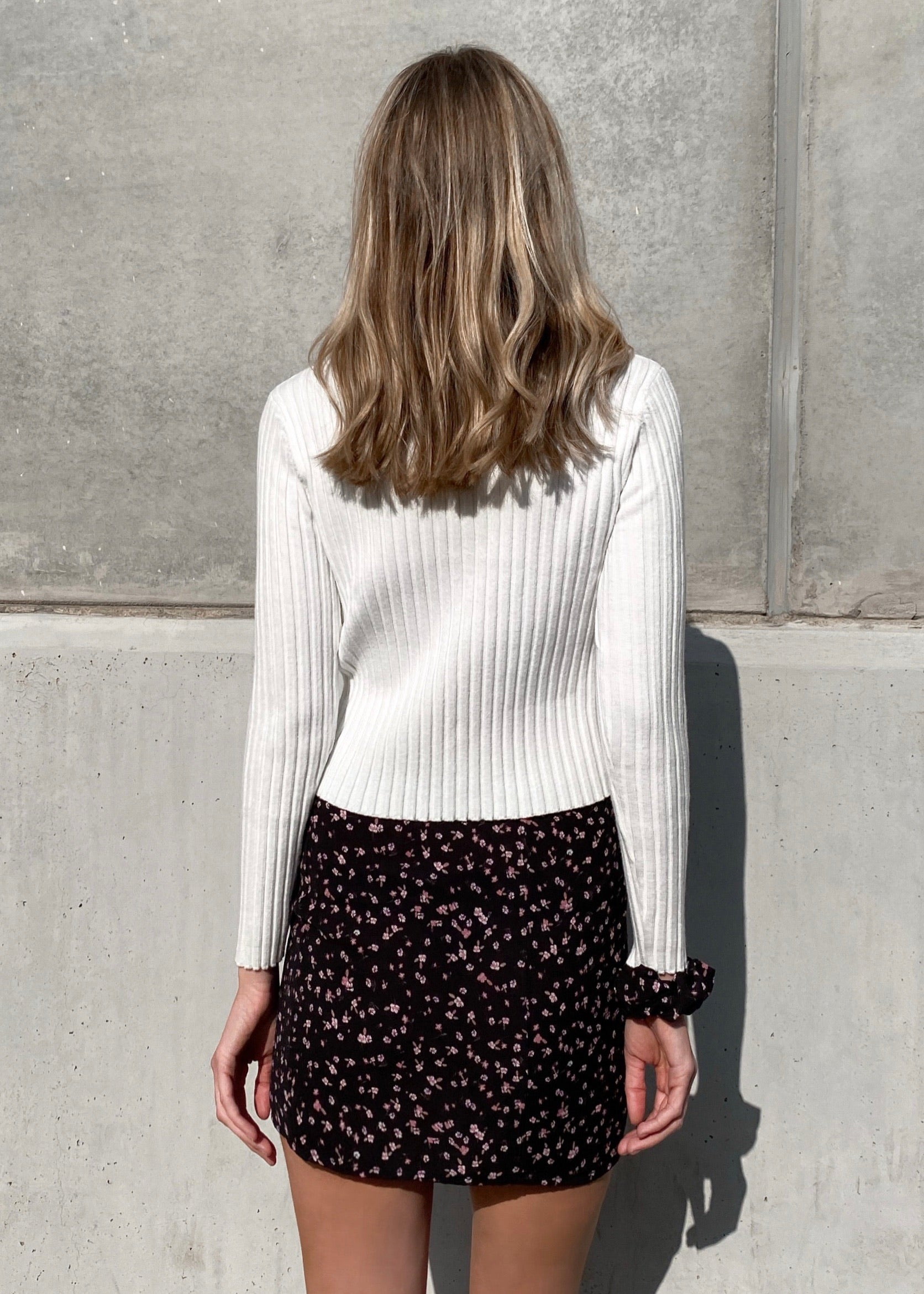 CANDICE KNIT WHITE