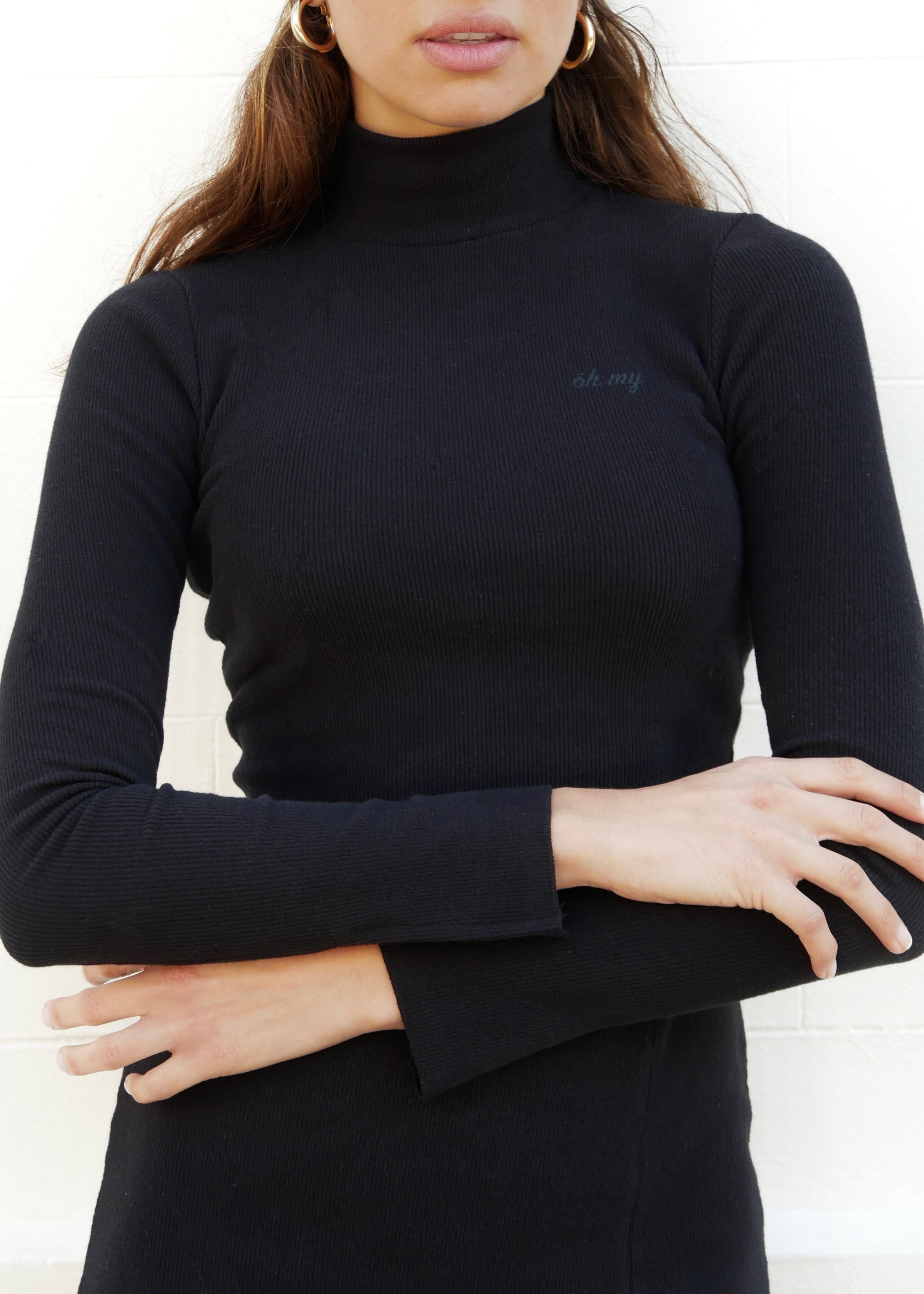 ORGANIC TOP IN BLACK
