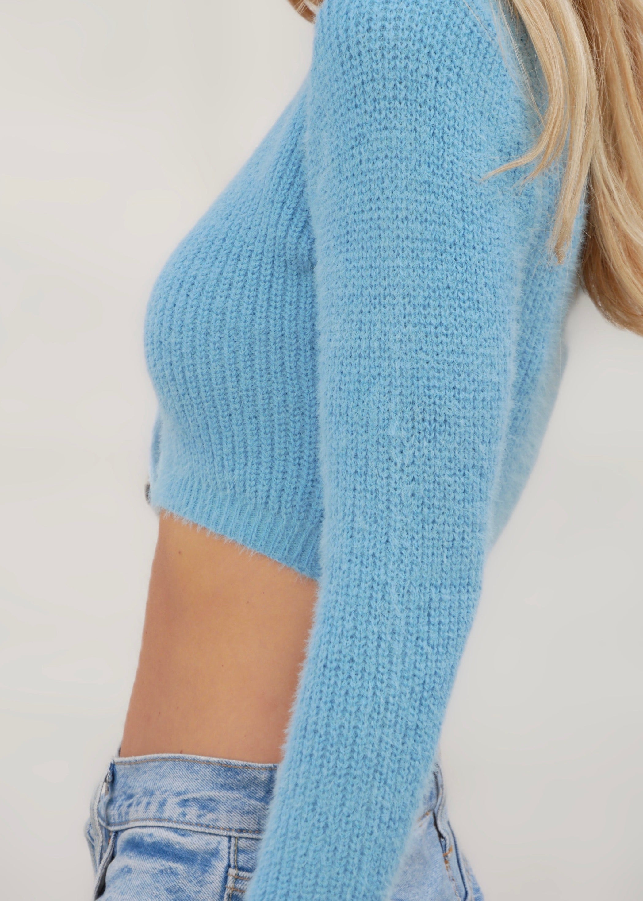 RAINBOW KNIT IN BLUE