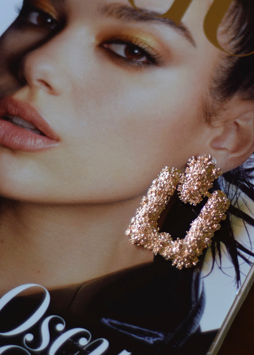 PINK GOLD EARRINGS