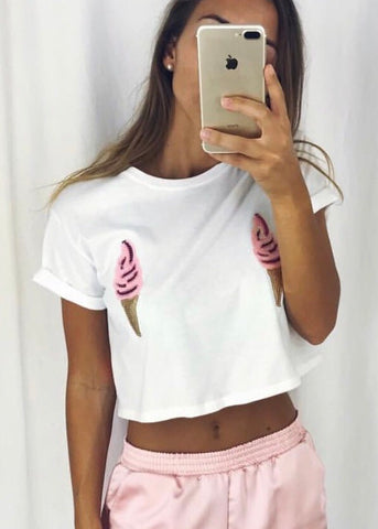 ICECREAM BANDEAU TOP