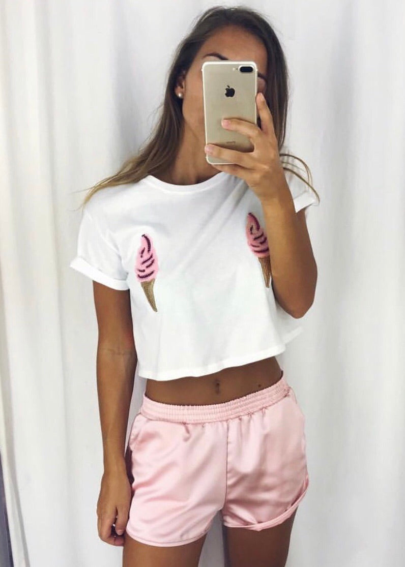ICECREAM CROP T-SHIRT