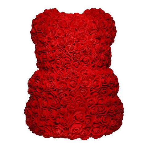 Red rose bear. Flower Teddy. Eternity bears. Mother's day gifts. Valentines gifts. Gifts for her.