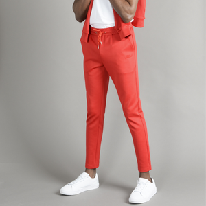 Red Cortior Athleisure Tracksuit Jersey Trouser
