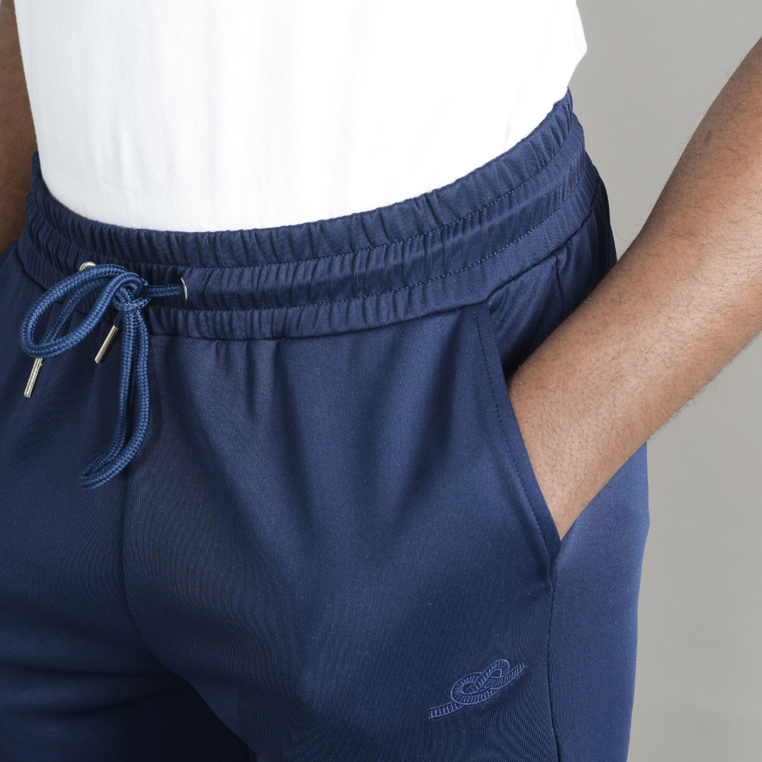 Midnight Blue Cortior Athleisure Tracksuit Jersey Trousers