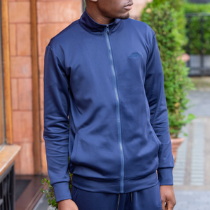 Midnight Blue Cortior Athleisure Technical Tracksuit Sweatshirt With Zip Up Closure