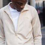 Pale Almond Cortior Athleisure Technical Tracksuit With Zip Up Closure