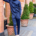 Midnight Blue Cortior Athleisure Technical Tracksuit With Zip Up Closure