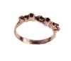 Rose Gold Barnacle Band with Black Diamonds