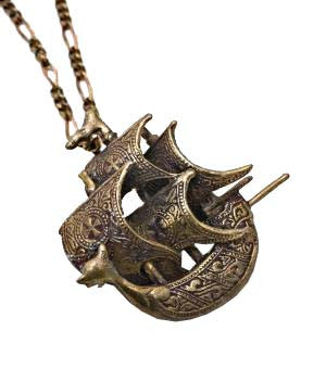 Spanish Galleon Pendant in bronze
