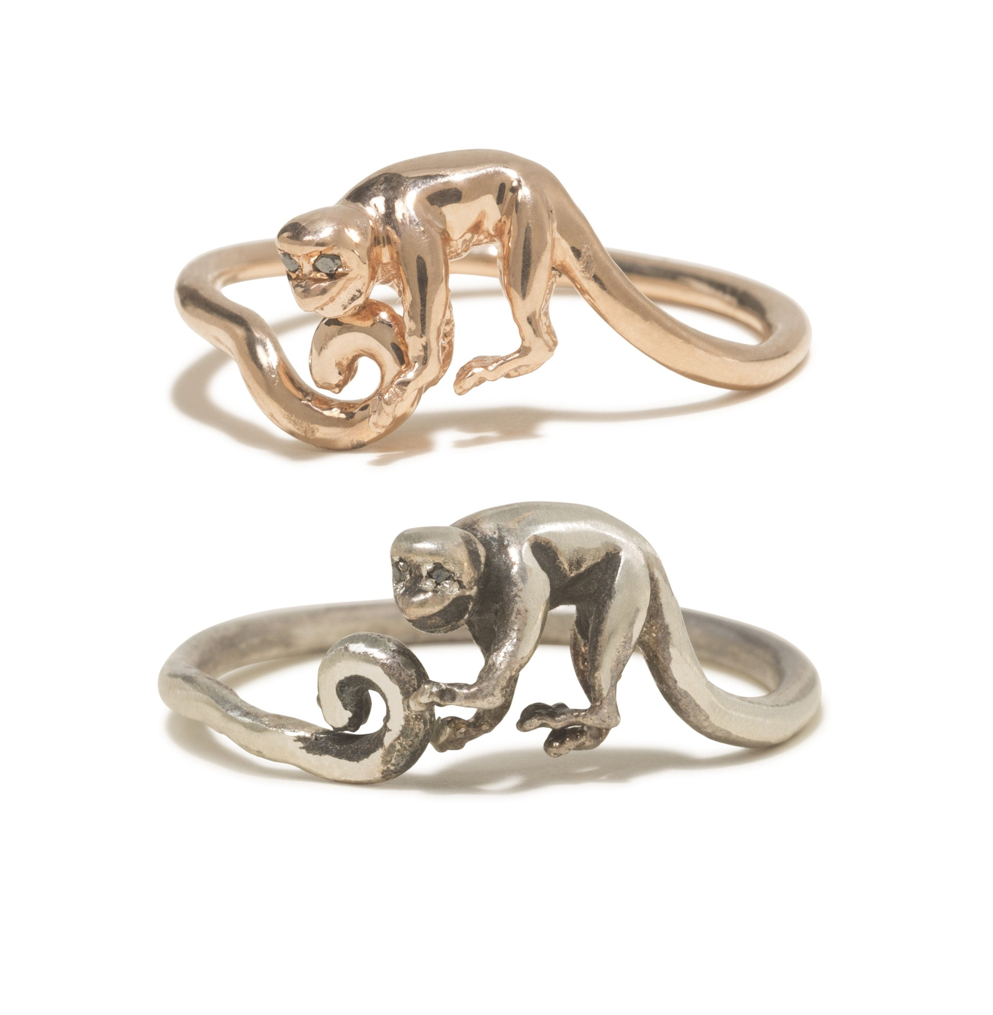 Lancelot Monkey Ring in Rose Gold