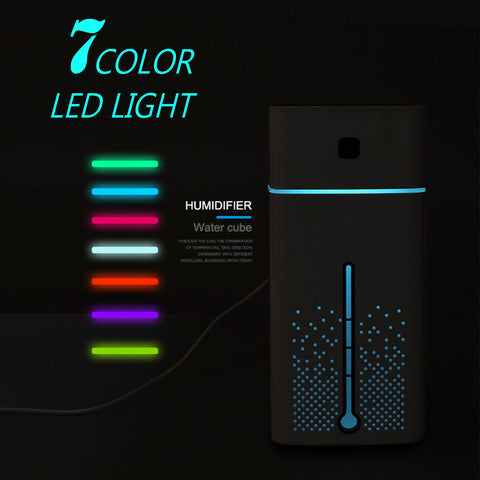 Air diffuser for clean air and scent with led lighting