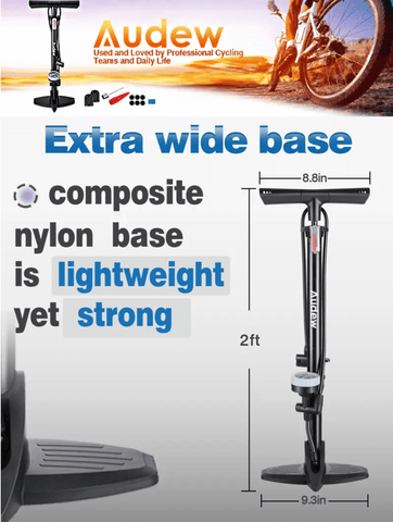 Bicycle Pump Portable Hand Air Inflator High Pressure Car Motorcycle Scooter