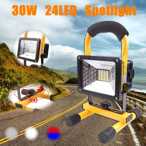 Flood Light LED Portable Rechargeable Waterproof Spot Work Lantern