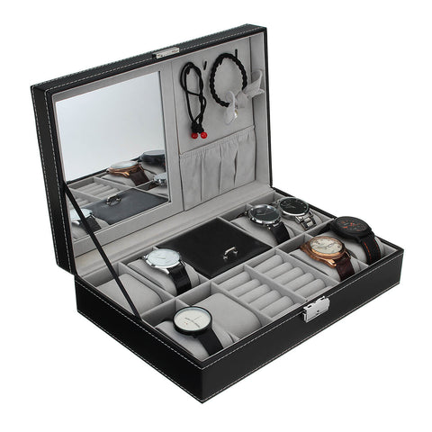 Internal view of jewelry box for keeping your watches