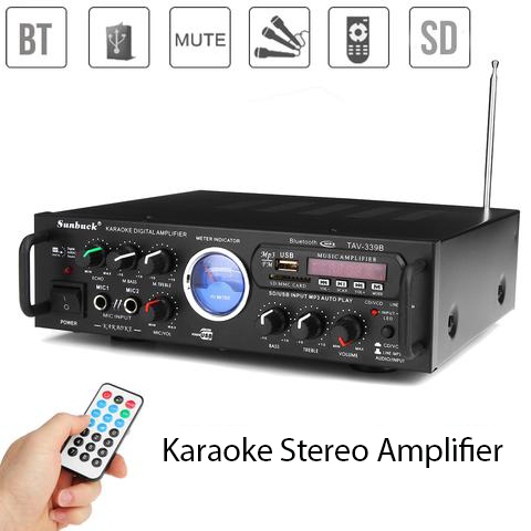 Karaoke Stereo Amplifier Bluetooth 600w Power