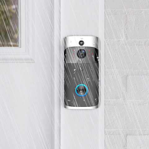 Smart door bell with day and night camera vision with two way audio and rainproof