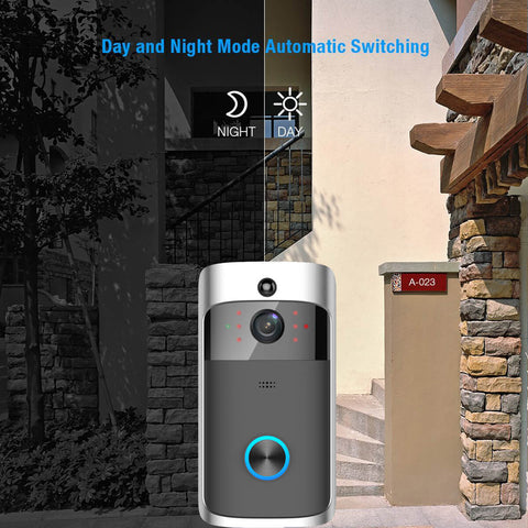 Smart door bell with day and night camera vision